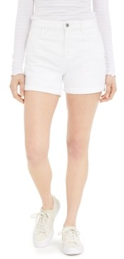 JEN7 by 7 For All Mankind Rolled Denim Shorts