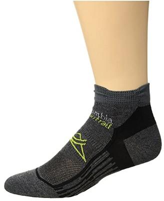 Columbia Trail Running Nilit Breeze Lightweight Low Cut Socks 1-Pack (Charcoal) Low Cut Socks Shoes