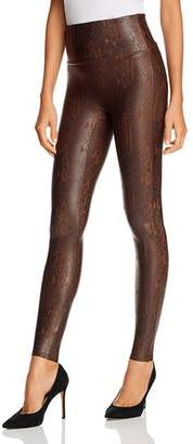 Spanx Snake-Print Faux Leather Leggings