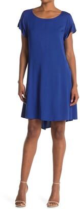Tash + Sophie Ruffle Sleeve Casual Dress