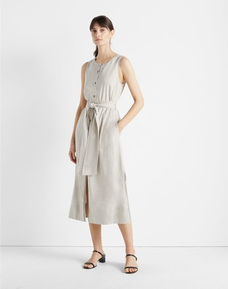 Club Monaco Sleeveless Button Front Dress