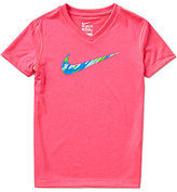 Nike Big Girls 7-16 Legend Swoosh-Logo Top