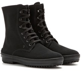 Tod's Suede Shearling-lined Ankle Boots