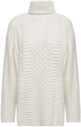 Jason Wu Cable And Open-knit Turtleneck Sweater