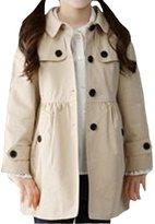 Vikoros Little Girls' Wind Coat Windbreaker Jacket