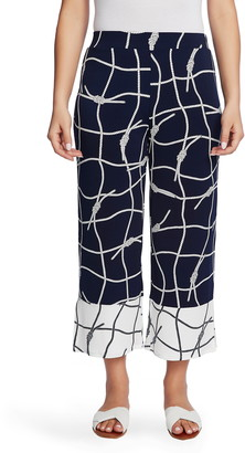 Chaus Colorblock Nautical Ropes Crop Wide Leg Trousers