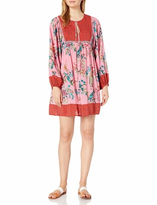 Johnny Was Women's Floral Printed Long Sleeve Cover up