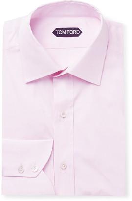 Tom Ford Slim-Fit Cotton-Poplin Shirt - Men - Pink
