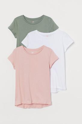 H&M 3-pack Cotton T-shirts - Pink