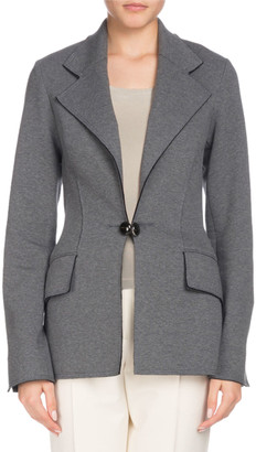 Proenza Schouler Single-Breasted Notched-Collar Tailored Blazer