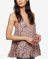 Free People Printed Drop-Waist Racerback Top