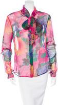 Dolce & Gabbana Sheer Floral Blouse