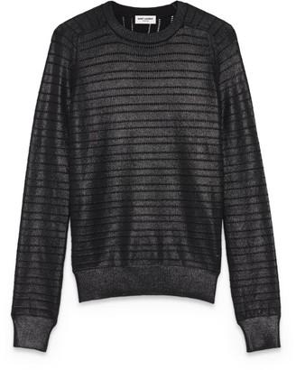 Saint Laurent Metallic Knit Sweater