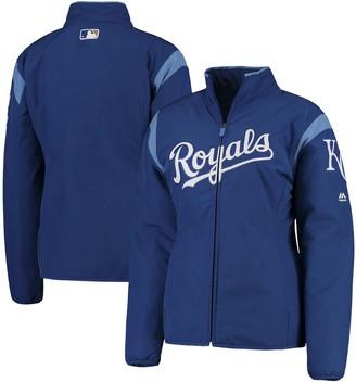 Majestic Women's Royal Kansas City Royals On-Field Thermal Jacket