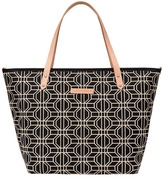 Petunia Pickle Bottom Woven Linen Cotton Downtown Tote