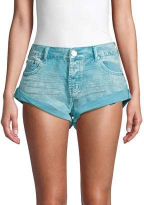 One Teaspoon Bandits Rolled Cuff Denim Shorts
