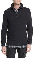 Belstaff Halston Melange Half-Zip Pullover Sweater, Charcoal
