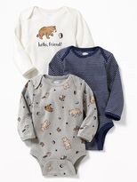 Old Navy Patterned Bodysuit 3-Pack for Baby