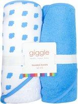 giggle Hooded Towel Set - Cloud - 2 ct