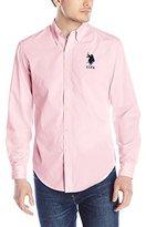U.S. Polo Assn. Men's Slim Fit Striped Oxford Button Down Shirt