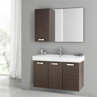 """ACF Bathroom Vanities Cubical 2 41"""" Single Bathroom Vanity Set with Mirror ACF Bathroom Vanities"""