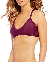 Gianni Bini Solid Strappy Back Bralette Top