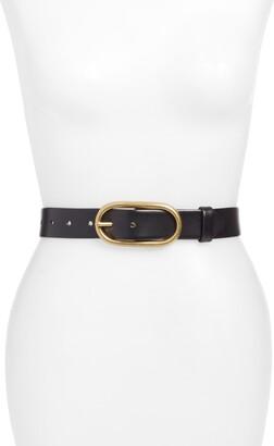Treasure & Bond Oval Buckle Leather Belt