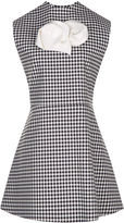 Awake Jellychess Gingham Sleeveless Brooch Top