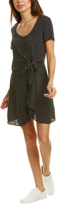 Three Dots Tie-Waist Mini Dress