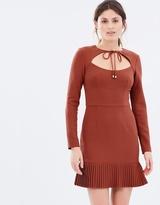 Rebecca Vallance Beltru00e1n Pleat Hem Mini Dress