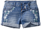 Fat Face Girls' Dark Wash Devon Denim Shorts, Blue