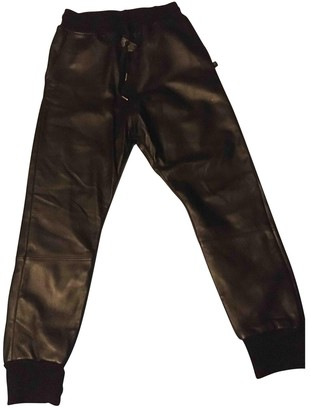 Sweet Pants Black Leather Trousers