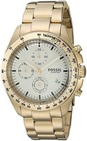 Fossil Men's Quartz Stainless Steel Casual Watch, Color:Gold-Toned (Model: CH3037)