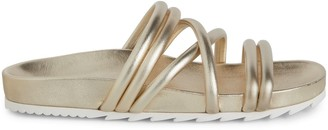 J/Slides Tess Leather Slip-On Sandals
