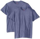 Hanes Men's Nano Premium Cotton Pocket T-Shirt (Pack of 2)