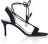 Gianvito Rossi Women's Cherry Suede Ankle-Tie Sandals-NAVY
