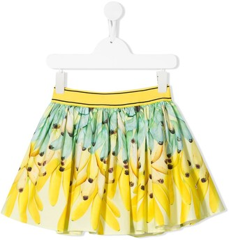 Molo Kids Go Bananas flared skirt
