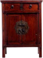 One Kings Lane Vintage Antique Elm Wood Chinese Side Cabinet