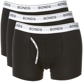 Bonds Guy Front Trunk 3 Pack Mens Underwear Black