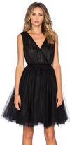 Maison Scotch Tulle Cross Front Mini Dress