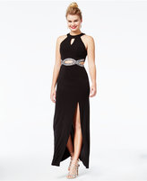 Speechless Juniors' Embellished Cutout Gown