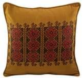 Chili Suns Chocolate Birds on Cinnamon Cotton Cushion Cover, 'Mountain Sun'