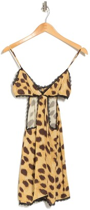 WeWoreWhat Leopard Print Cutout Dress