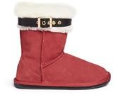 Emu 'Santa' buckle suede kids boots