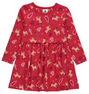 George Red Rudolph Jersey Christmas Dress