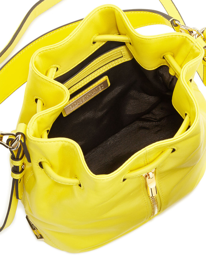 Elizabeth and James Cynnie Mini Bucket Bag, Peony Yellow