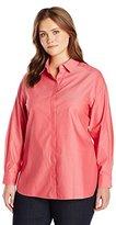 "Foxcroft Women's Plus Size Long Sleeve ""Vanessa"" Non Iron Tunic"