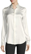 Ralph Lauren Cindy Stretch-Charmeuse Blouse