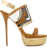 Gianni Renzi - platform sandals - women - Leather/Suede/nylon -12 - 37.5