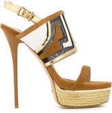 Gianni Renzi - platform sandals - women - Suede/Leather/nylon -12 - 37.5